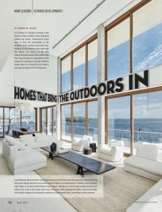 LuxeGetaways - Luxury Travel - Luxury Travel Magazine - Luxe Getaways - Luxury Lifestyle - Digital Travel Magazine - Travel Magazine - Homes that bring the outdoors in - Home and Design - Damon Banks - Great room - Floor to ceiling windows