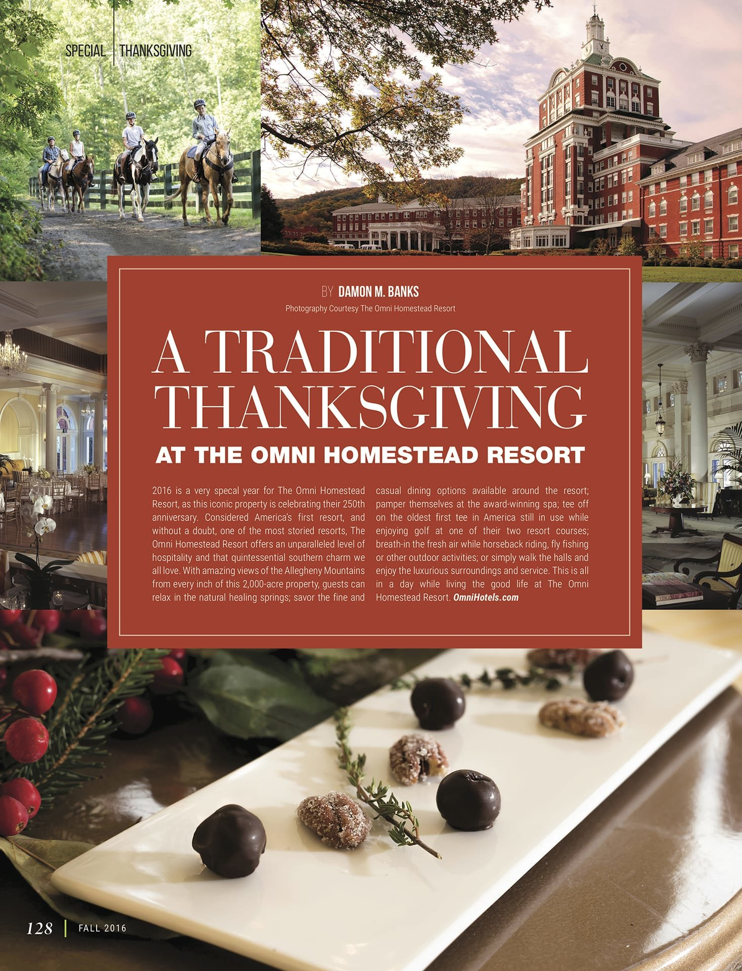 A Traditional Thanksgiving at The Omni Homestead Resort