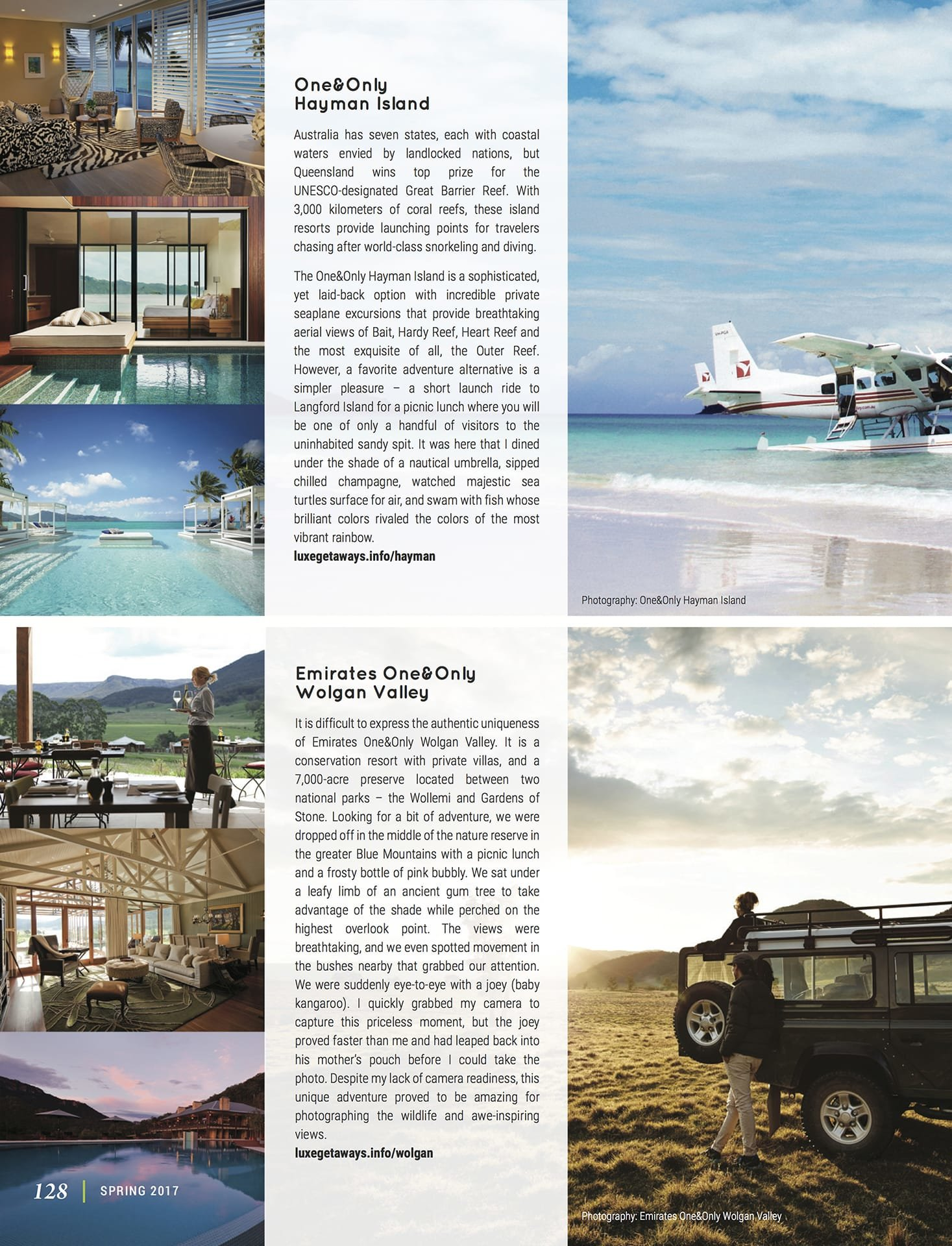 LuxeGetaways - Luxury Travel - Luxury Travel Magazine - Best of Australia - One&Only - One and Only Resorts - Priscilla Pilon