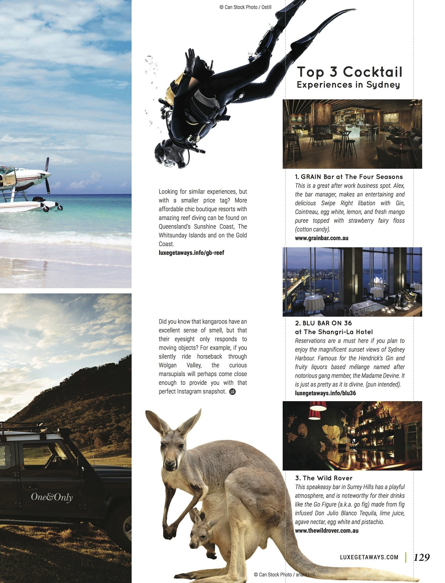LuxeGetaways - Luxury Travel - Luxury Travel Magazine - Best of Australia - One&Only - One and Only Resorts