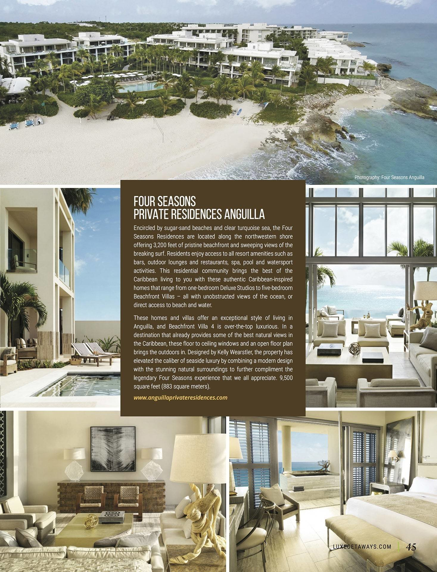 LuxeGetaways - Luxury Travel - Luxury Travel Magazine - Ritz Carlton Dove Valley - Four Seasons Anguilla - Private Residence - luxury real estate