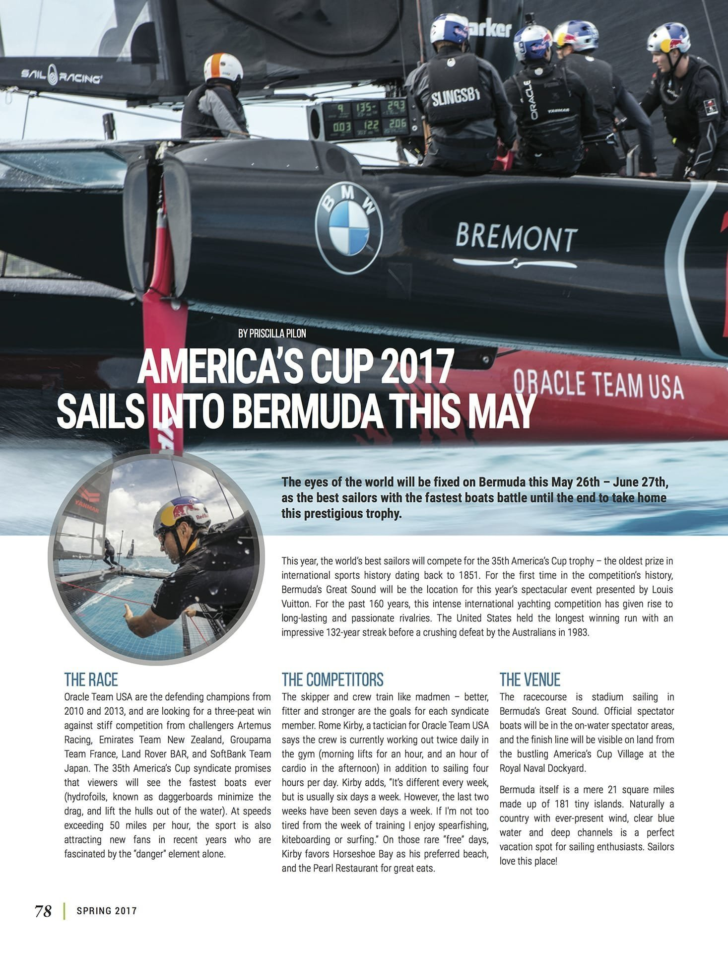 LuxeGetaways - Luxury Travel - Luxury Travel Magazine - Bermuda Tourism - America's Cup - Oracle Team USA