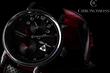 LuxeGetaways - Luxury Travel - Luxury Travel Magazine - Introducing the Chronoswiss Regulator Alfa Romeo Quadrifoglio Edition