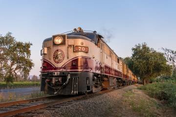 LuxeGetaways - Luxury Travel - Luxury Travel Magazine - Luxe Getaways - Luxury Lifestyle - Luxury Villa Rentals - Affluent Travel - Napa Valley Wine Train - Quattro Vino Tours - Napa Valley - California - Engine Photo