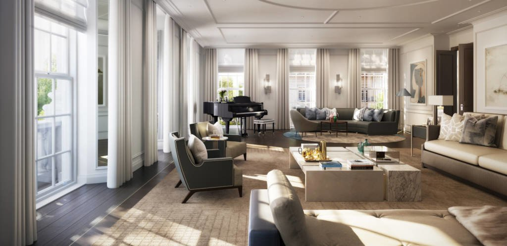 LuxeGetaways - Luxury Travel - Luxury Travel Magazine - Luxe Getaways - Luxury Lifestyle - Travel News: Four Seasons Private Residences Arrives in London - Four Seasons Hotels and Resorts - Luxury Residential Living - Living Room