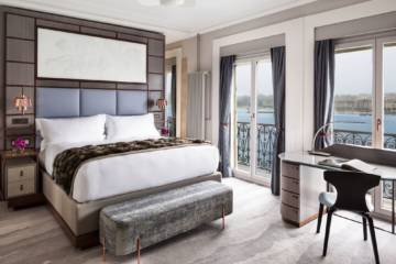 LuxeGetaways - Luxury Travel - Luxury Travel Magazine - Luxe Getaways - Luxury Lifestyle - LuxeGetaways_Ritz-Carlton Geneva_Marriott-International_Hotel-De-La-Paix - Luxury Hotel - Hotel Opening - Europe Luxury Hotel - Swiss Hotel - Bedroom with view