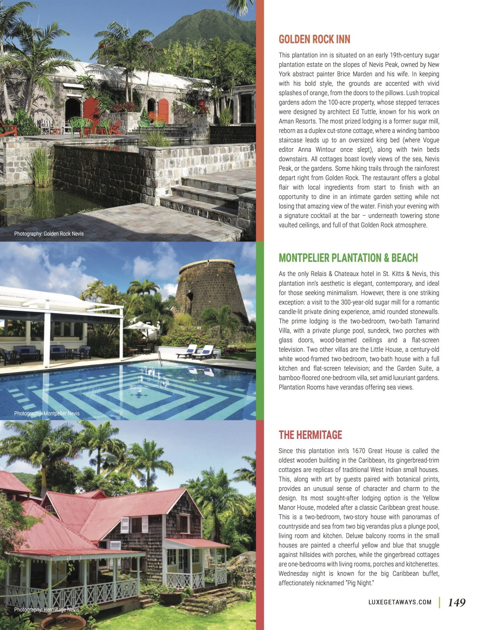 LuxeGetaways - Luxury Travel - Luxury Travel Magazine - Luxe Getaways - Luxury Lifestyle - Fall/Winter 2017 Magazine Issue - Digital Magazine - Travel Magazine - Nevis - St Kitts - Caribbean - Luxury Hotels Nevis - Hamilton