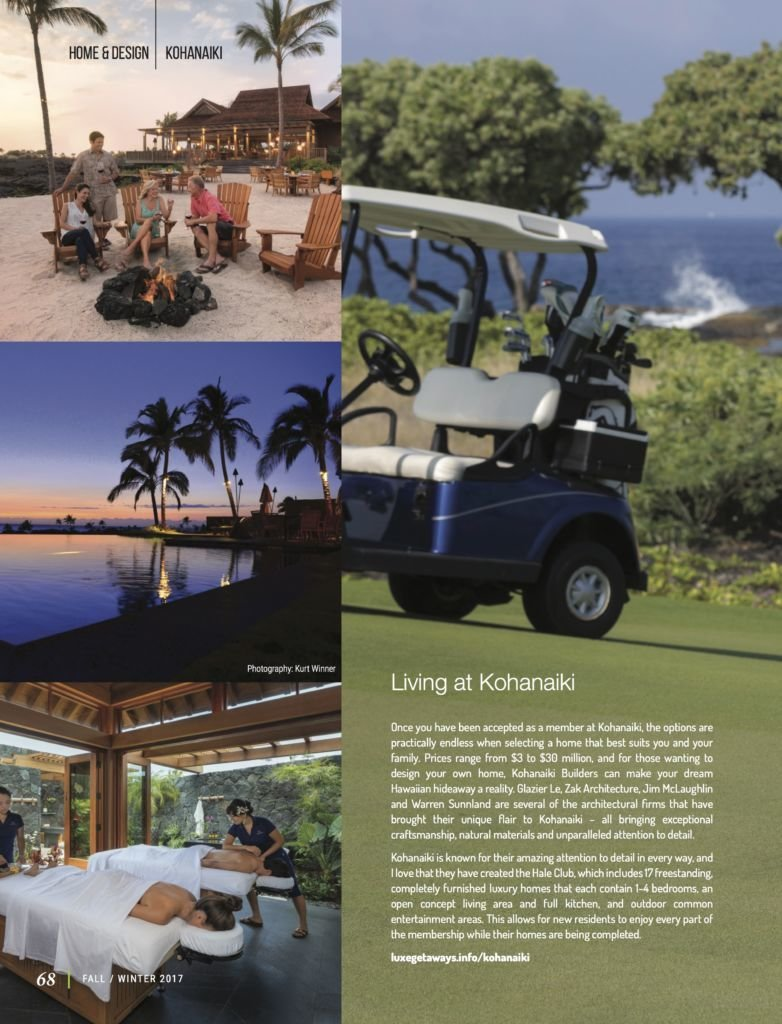 LuxeGetaways - Luxury Travel - Luxury Travel Magazine - Luxe Getaways - Luxury Lifestyle - Fall/Winter 2017 Magazine Issue - Digital Magazine - Travel Magazine - Kohanaiki - Hawaii - Luxury Real Estate