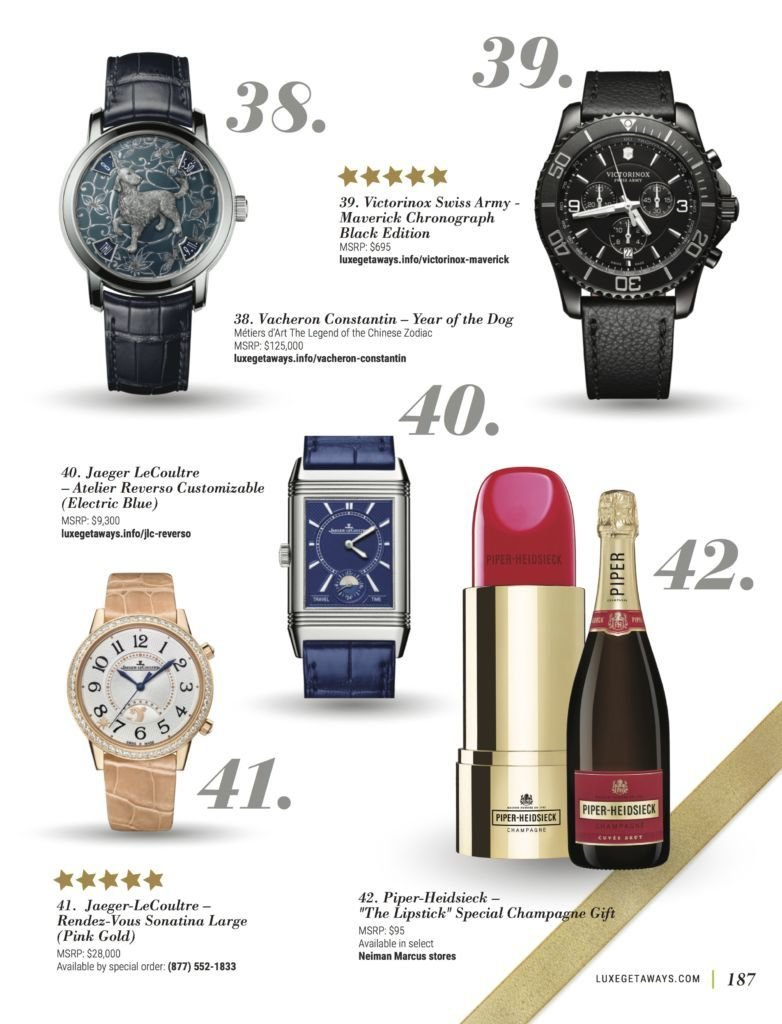 LuxeGetaways - Luxury Travel - Luxury Travel Magazine - Luxe Getaways - Luxury Lifestyle - Fall/Winter 2017 Magazine Issue - Digital Magazine - Travel Magazine - Winter Gift Guide - Gift Guide - Luxury Gifts